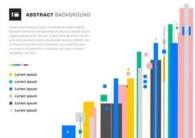 abstract sjabloonontwerp kleurrijke geometrische overlappingslaag verticale lijnen op witte achtergrond met ruimte voor uw tekst.
