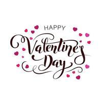 vector gelukkige Valentijnsdag vintage kaart met letters