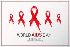 hiv bewustzijn rood lint. wereld aids dag concept. moderne vectorillustratie