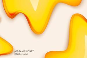 glanzende organische honingsachtergrond. sjabloonontwerp voor bijenteelt en honingproduct.