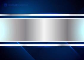 abstracte technologie futuristische concept digitale blauwe lichtstraal diagonale strepen lijnentextuur op donkerblauwe achtergrond vector