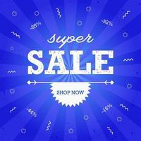 super verkoop banner ontwerpsjabloon