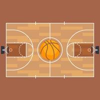 Basketbal en basketbalveld plattegrond. vector