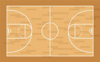 Basketbalveld vector
