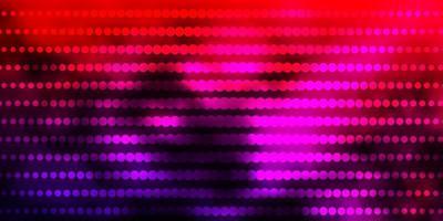donkerroze, rode vectorachtergrond met cirkels.