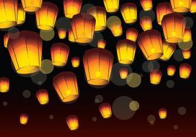 Sky Lantern Festival vector