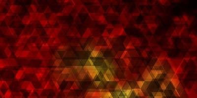 donkeroranje vectorachtergrond met lijnen, driehoeken. vector