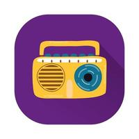 radio muziekspeler geïsoleerde pictogram