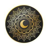 gouden mandala ramadan kareem decoratie