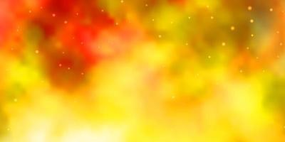 lichtoranje vector achtergrond met kleurrijke sterren.