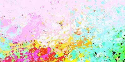 licht veelkleurige vectorlay-out met driehoeksvormen.