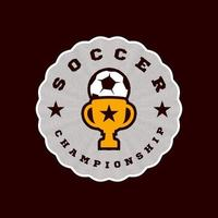 kampioen voetbal vector logo