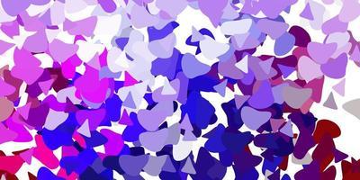 lichtpaars, roze vector sjabloon met abstracte vormen.