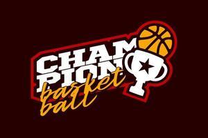 kampioen basketbal vector logo