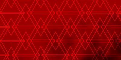 lichtrood vector sjabloon met lijnen, driehoeken.