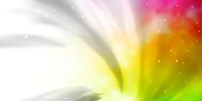 licht veelkleurige vector achtergrond met kleurrijke sterren.