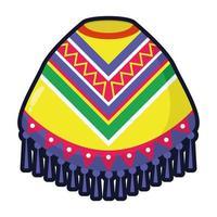 Mexicaanse cultuur poncho vlakke stijl vector illustratie ontwerp