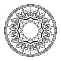 bloemen mandala diwali decoratie getekend zwart-wit pictogram vector illustratie ontwerp