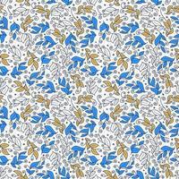 schattig vector blad naadloze vector patroon
