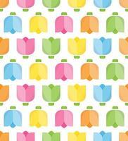 kleurrijke tulp naadloze patroon voor achtergrond vector