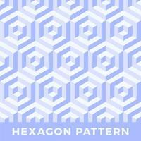 zeshoek naadloos abstract zeshoek 3d patroon