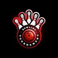 bowling circulaire vector logo