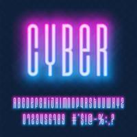 neon vector lettertypeset