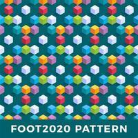 kubus isometrisch naadloos patroonontwerp