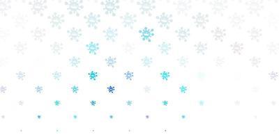 lichtroze, blauw vectorpatroon met coronaviruselementen.