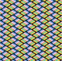 blok isometrisch naadloos patroonontwerp