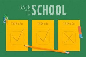terug naar school illustratie met papier