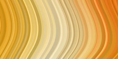 licht oranje vector sjabloon met wrange lijnen.