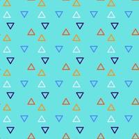 driehoek naadloze achtergrond met driehoekige vormen van verschillende kleuren vector