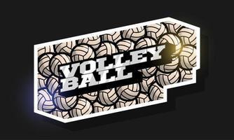 moderne professionele typografie volleybal sport retro-stijl vector