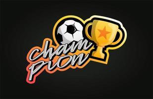 vector voetbal of voetbal kampioen logo