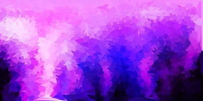 donkerpaarse, roze vector geometrische veelhoekige lay-out.