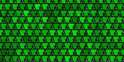 lichtgroene vectorachtergrond met lijnen, driehoeken. vector