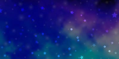 donkerroze, blauw vectorpatroon met abstracte sterren.