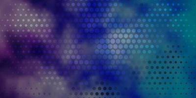 lichtroze, blauw vector sjabloon met cirkels.