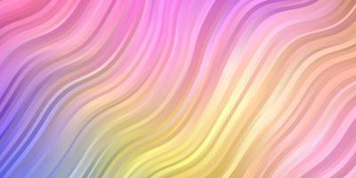 licht veelkleurig vectorpatroon met lijnen.