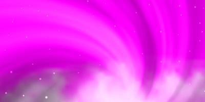 lichtroze vectorlay-out met heldere sterren. vector