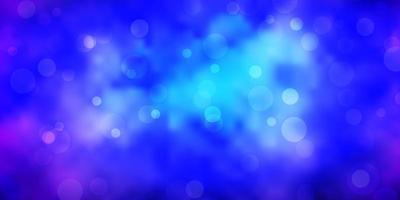 donkerroze, blauwe vectortextuur met schijven.
