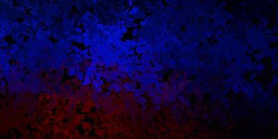 donkerblauw, rood vectorpatroon met abstracte vormen.