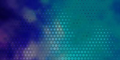 lichtroze, blauwe vectortextuur met schijven.