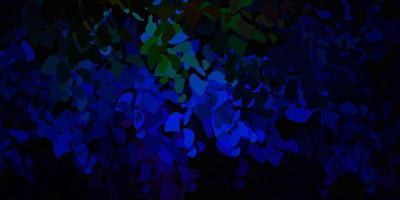 donkere veelkleurige vector achtergrond met willekeurige vormen.