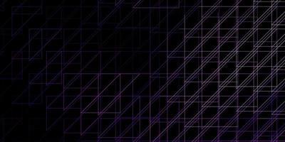 donkerpaars vectorpatroon met lijnen.