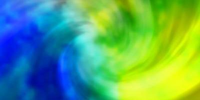 lichtblauwe, groene vectorachtergrond met cumulus. vector