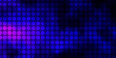 donkerroze, blauwe vectorachtergrond met cirkels.