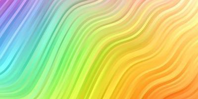 licht veelkleurig vectorpatroon met gebogen lijnen.