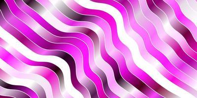 lichtroze vector achtergrond met gebogen lijnen.